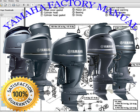 Thumbnail 1986 Yamaha 4 LJ Outboard service repair maintenance manual. Factory Service Manual